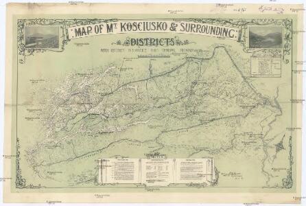 Map of M.t Kosciusko & surrounding districts