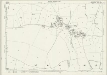 Huntingdonshire XXVI.6 (includes: Graveley; Papworth St Agnes; Toseland; Yelling) - 25 Inch Map
