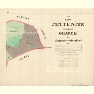Jettenitz - c6707-1-003 - Kaiserpflichtexemplar der Landkarten des stabilen Katasters