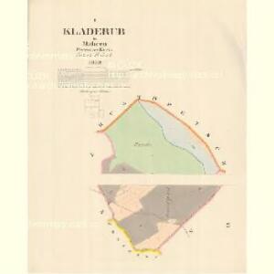 Kladerub - m1183-1-001 - Kaiserpflichtexemplar der Landkarten des stabilen Katasters