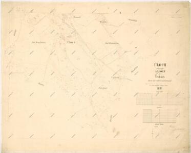 Katastrální mapa obce Úloh ZC-VIII-27 dh ch