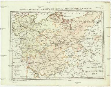 Postkarte von dem Obersaechsischen und Niedersaechsischen Kreise