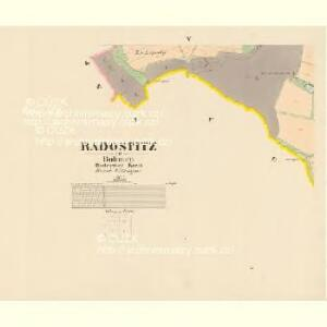 Radostitz - c6377-1-004 - Kaiserpflichtexemplar der Landkarten des stabilen Katasters
