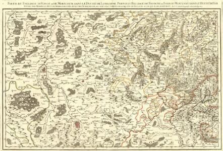 Partie du Balliage de Vosge, ou de Mirecour dans le Duché de Lorraine. :