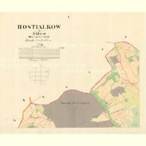 Hostialkow - m0861-1-001 - Kaiserpflichtexemplar der Landkarten des stabilen Katasters