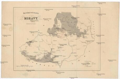 Narodopisná mapka Moravy