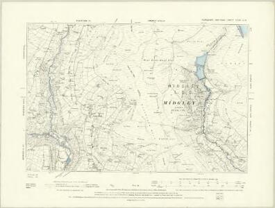 Yorkshire CCXIV.NW - OS Six-Inch Map
