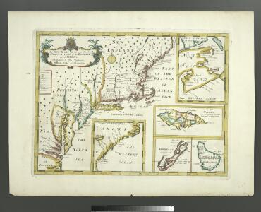 A new map of the most considerable plantations of the English in America / Sutton Nicholls, sculp.