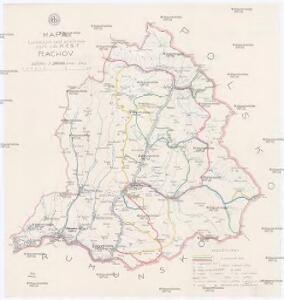 Mapa turistických cest značkovaných odb. K.Č.S.T. Rachov