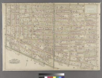 Plate 7: Bounded by Lafayette Avenue, Marcy Avenue, Greene Avenue, Tompkins Avenue, Fulton Street, Brooklyn Avenue, Herkimer Street, Bedford Avenue, Atlantic Avenue and Washington Avenue.
