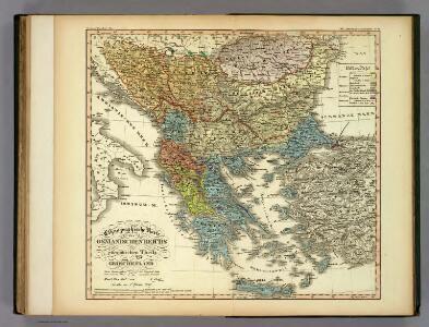 Ethnographische Karte des Osmanischen Reichs.