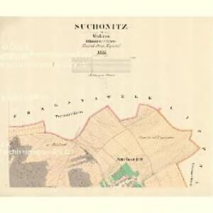 Suchonitz - m2954-1-001 - Kaiserpflichtexemplar der Landkarten des stabilen Katasters