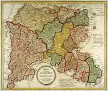 Charta provinciam Salamanticam hispanice Salamanca, exhibens