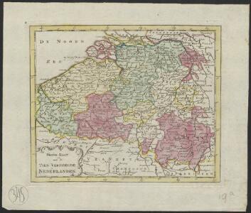 Nieuwe kaart van de tien verdeelde Nederlanden