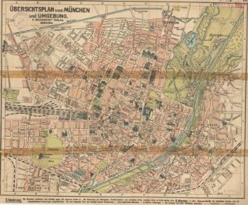 Übersichtsplan von München und Umgebung